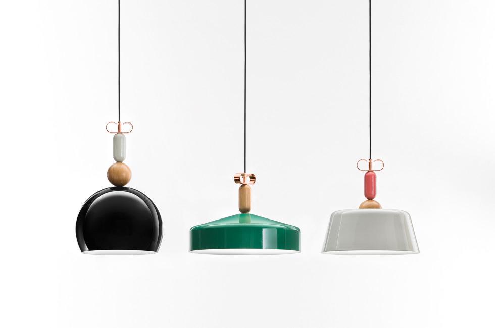 © The BON TON suspension lamps collection by Cristina Celestino (Attico) for Torremato
