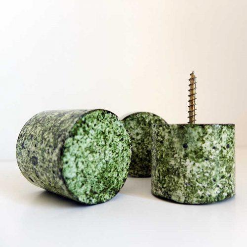 Set de 3 patères vertes