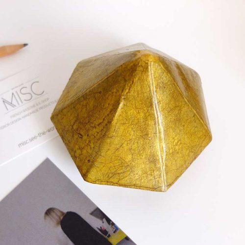 Presse-papiers diamant faïencé or