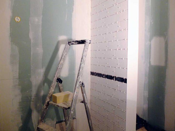 Progress report (avant-après) : la salle d'eau