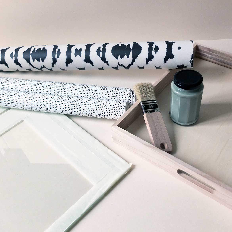 Misc Webzine DIY Plateau Papier Peint