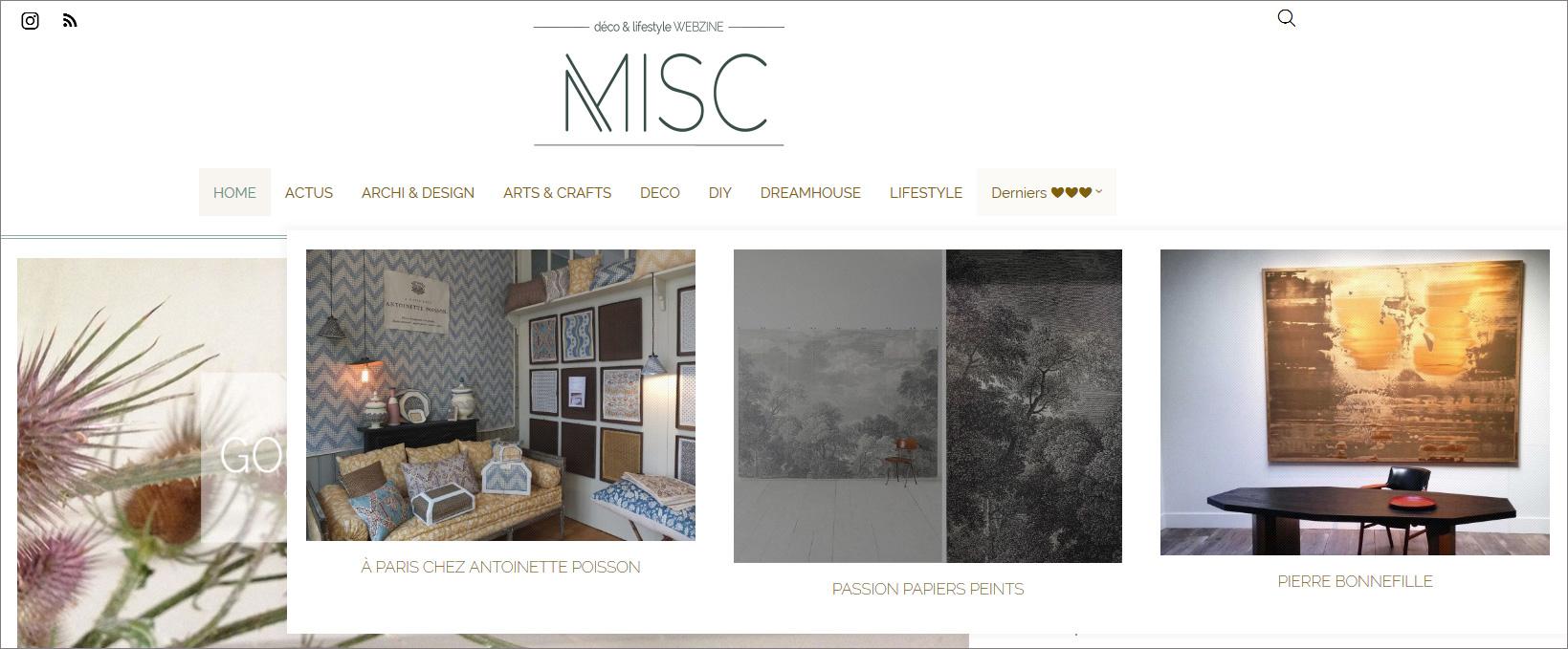 Misc-Webzine-Déco & Slow Lifestyle