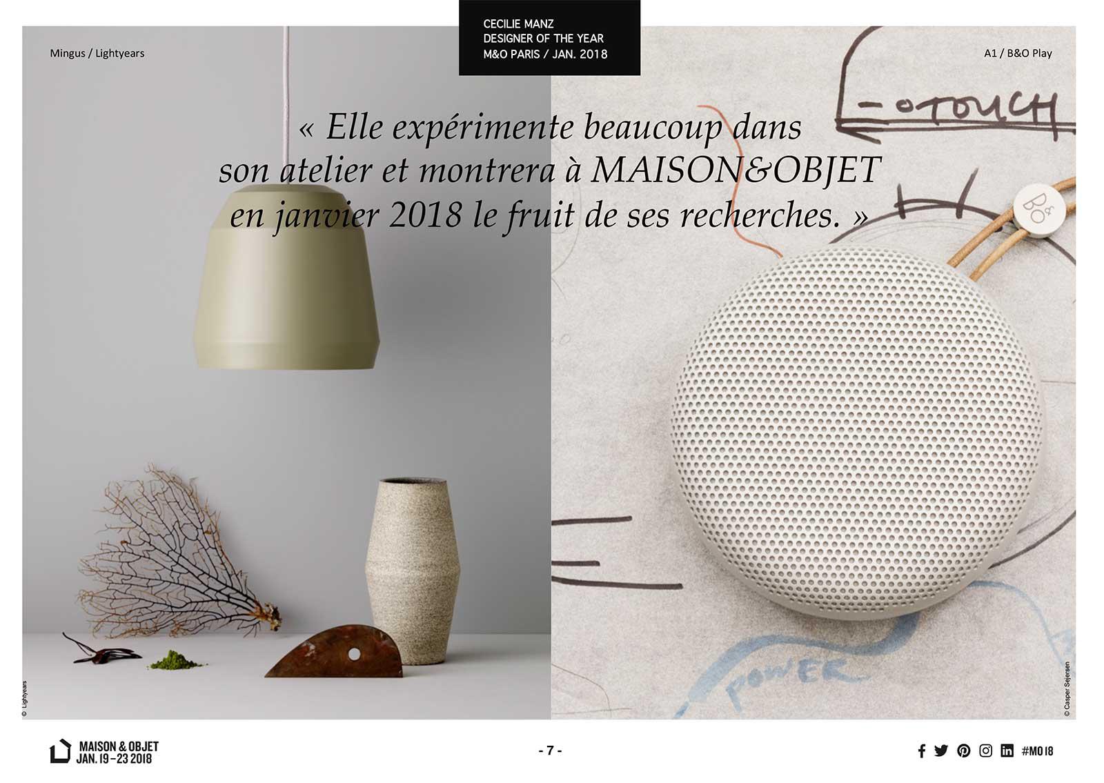 © Maison & Objet - Paris, janvier 2018