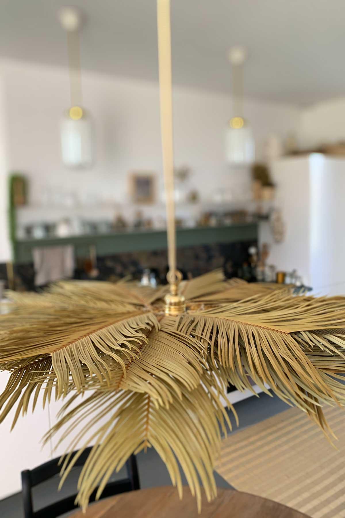 Misc Webzine DIY luminaire en palmes de cycas